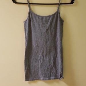 Plain grey tank top